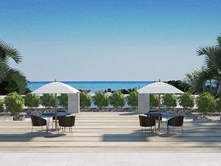 クラブメッド石垣島(カビラ) エントランスを抜けると、美しい海が目の前に広がる