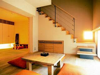 小樽旅亭蔵群 メゾネットタイプの客室の一例