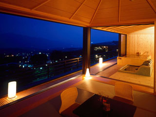 一番湯の宿ホテル木暮 貸切展望風呂「嬉しの湯」(1時間3000円)
