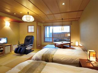 北陸福井あわら温泉 美松 回廊庭園を見下ろす露天風呂付き客室
