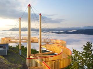 星野リゾート リゾナーレ トマム 雲海テラス 雲の上を歩くデッキ Cloud Walk 1