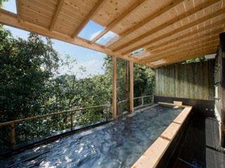 料理の宿 伊豆のうみ 貸切風呂の露天もどうぞお楽しみください