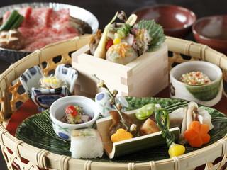 お宿木の葉 「木の葉御膳」にお好みで天ぷら・うどん・デザートなど