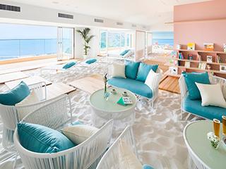 星野リゾート リゾナーレ熱海 空に浮かぶビーチのような「ソラノビーチ Books&Cafe」