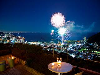 星野リゾート リゾナーレ熱海 全室オーシャンビューなので熱海の花火も独り占め