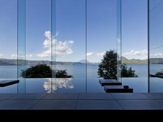 ザ レイクビュー TOYA 乃の風リゾート レイクビューのロビーからは、羊蹄山を望める日も