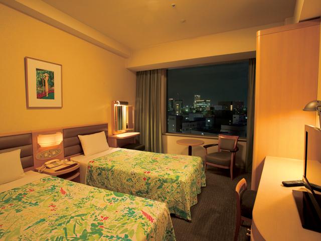 札幌プリンスホテル 5~14階の機能的な部屋、スタンダードツインルーム