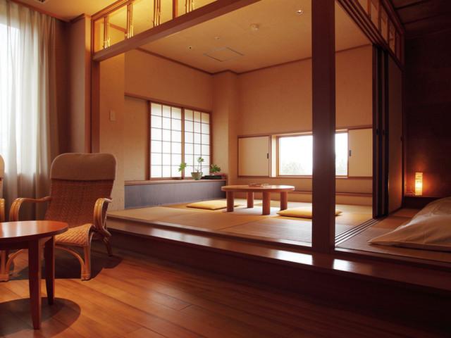 三余庵 和室一例。全室温泉付き。全11室が異なる間取りと仕様