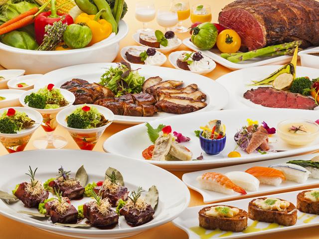本格フレンチや日本料理を堪能できる専門店とバイキングレストランが揃っています