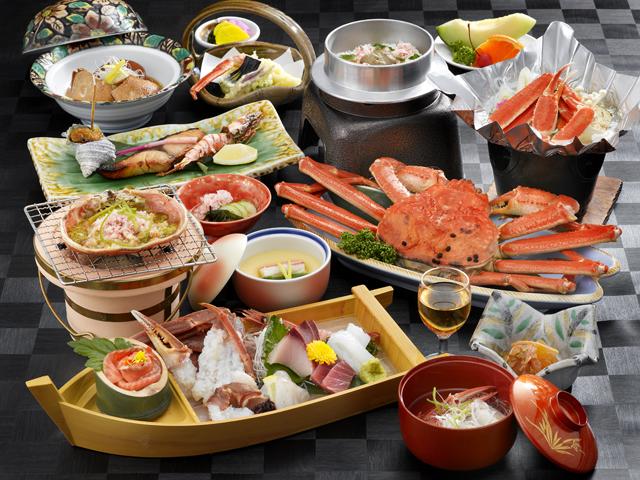 宿守屋寿苑 新鮮な魚介類を使用する料理