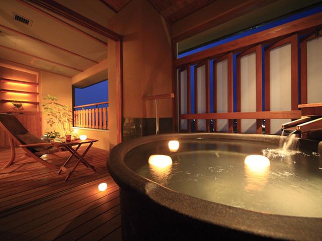 瑠璃光 ゆるりと温泉を楽しめる露天付客室はじめ多彩な客室