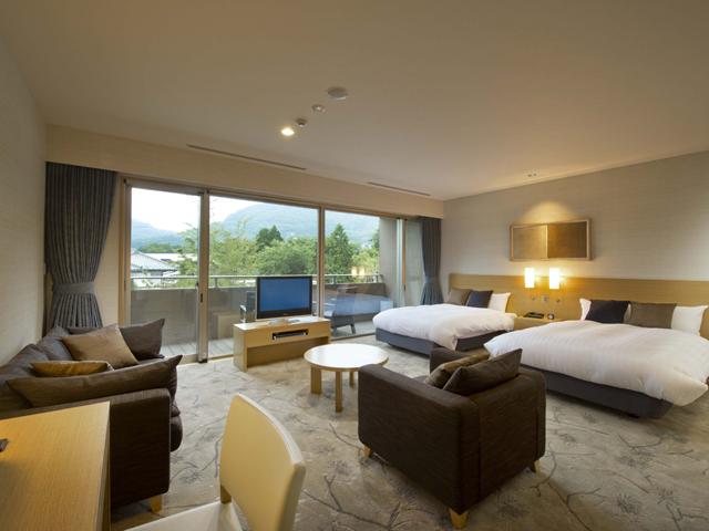 箱根翡翠 全タイプ50平方メートル以上のゆったりとした客室