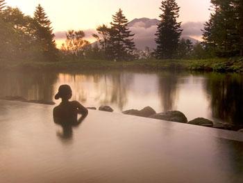 羊蹄山を眺めながら入れる温泉