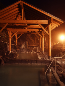 万座高原ホテル 石庭露天風呂(夜)