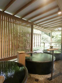 ホテルニュー水戸屋 薬師の湯「水心鏡」陶器風呂