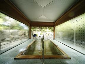 ホテル八木 庭園に一角にある浴場「風庵」が評判