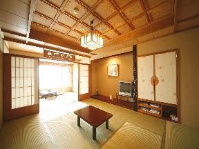 平成館しおさい亭 宿名を実感できる別館「花月」の露天風呂付客室