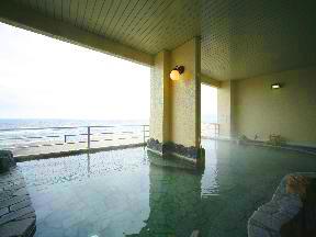 湯の川プリンスホテル渚亭 女性大浴場「乙姫」露天風呂