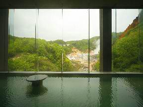 第一滝本館 「男性大浴場」展望風呂