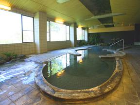 ホテル 後楽荘 一度に30人ほども入れるひょうたん形をした大きな湯船