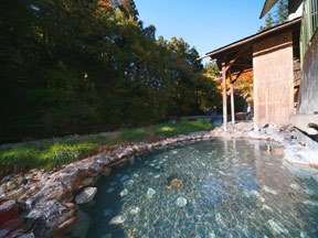温泉三昧の宿四万たむら 混浴露天風呂「幻の湯竜宮」