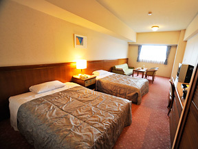 ホテルスポーリア湯沢 セミダブルでゆったりツイン