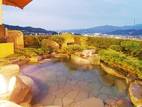 日本の宿古窯 展望大浴場露天風呂