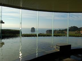 小名浜オーシャンホテル&ゴルフクラブ 大浴場からの景観もこの素晴らしさ