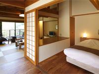 八幡野温泉郷 杜の湯 きらの里 【ファミリー】部屋は基本的に和洋室が多く、子供連れには使い勝手が良い。