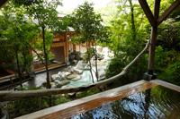 八幡野温泉郷 杜の湯 きらの里 敷地内に2つの源泉を持ち、趣の異なる男女別8種類のお風呂が楽しめる。