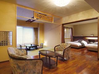 ホテルまほろば 人気の「露天風展望風呂付和洋室」