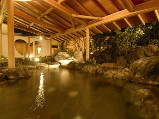 ホテルニュー水戸屋 薬師の湯「月宮殿」露天風呂