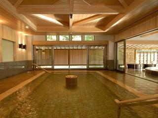 ホテルニュー水戸屋 薬師の湯「水心鏡」内風呂
