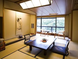 鷹泉閣 岩松旅館 客室一例:青葉館和室10畳+広縁