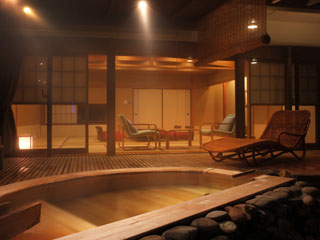 日本の宿古窯 露天風呂付客室(茶寮)