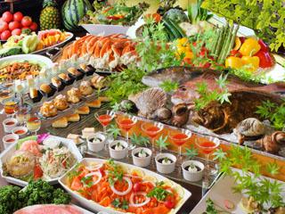 鬼怒川温泉 あさや 夕食ブッフェは和洋中80種の品揃え