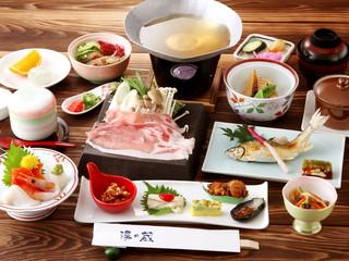 ほてる白河湯の蔵 日光ひみつ豚や湯波、八汐マスなど地場食材を使用した和食膳を個室料亭にて