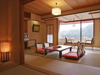 鬼怒川グランドホテル夢の季 10畳+6畳でゆったりとした本館和室