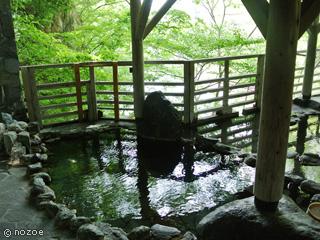 水上館 利根川を眼下に眺め、野趣あふれる湯浴みができる「牧水の湯」露天風呂。