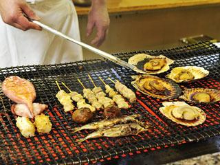 鴨川ホテル三日月 バイキング・焼き物コーナー お好きな食材を焼きたてでご提供致します