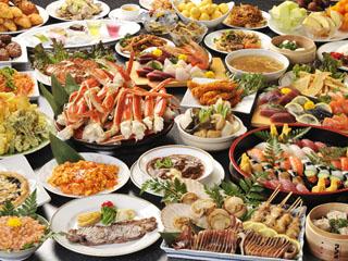 勝浦ホテル三日月 大人気約60種和洋中バイキング