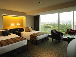 ホテルニューオータニ 都心の緑が心和ませる「ザ・メイン」のスタンダードツインルーム