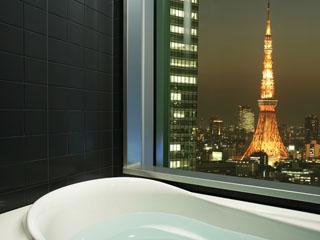 三井ガーデンホテル銀座プレミア 一部のバスルームから東京タワーをご覧頂ける「ビューバス・ダブル」