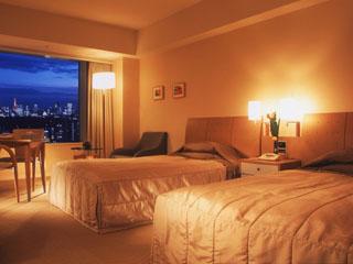 東京ドームホテル エレガントな色調が寛ぎの空間を演出するツインルーム