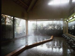 ホテル仙景 源泉がコンコンとそそぐ大浴場