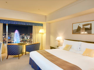 ヨコハマ グランド インターコンチネンタル ホテル 大観覧車の夜景を望むシティビューの客室