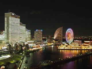 横浜桜木町ワシントンホテル 海側客室からの夜景