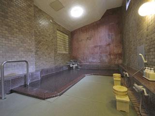 富士屋ホテル 源泉掛け流しの温泉浴室