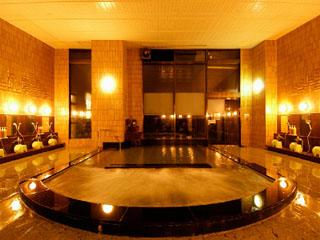 エンゼルグランディア越後中里 ジャグジー付大浴場、サウナが完備された24時間営業の本館温泉大浴場