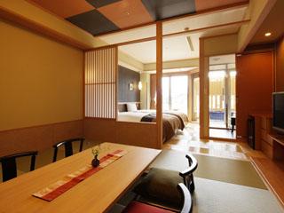 金太郎温泉 ワンランク上のおもてなし、ラグジュアリーフロア「峰の界」露天風呂付客室